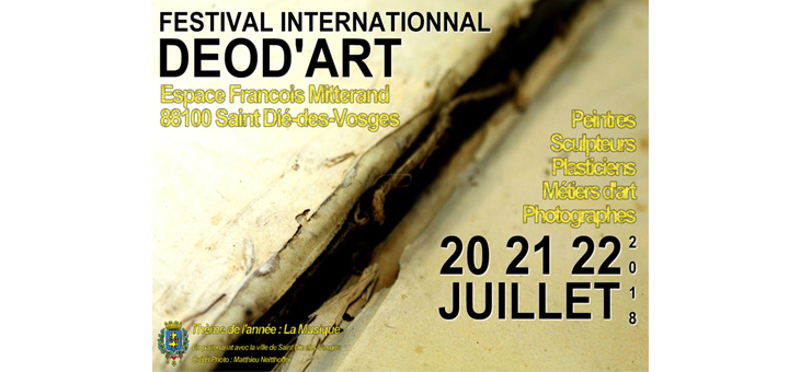Festival Internationnal DEOD'ART du 20 au 22 juillet
